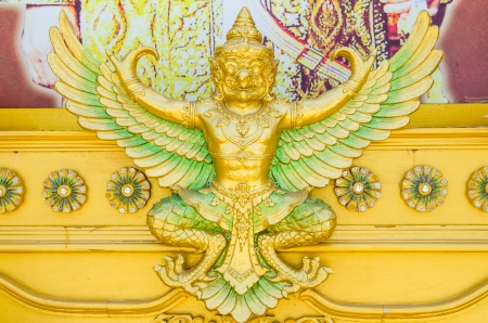 Garuda molding art, Thailand photo