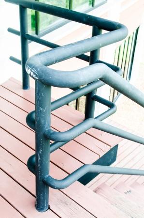 repetitious: Black hand rail, Thailand