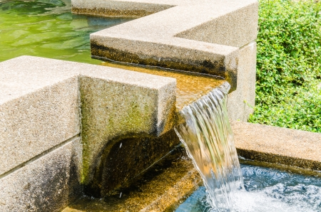 overflow: Concrete gutter for overflow, Thailand Stock Photo