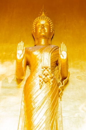 Golden buddha statue, Thailand photo