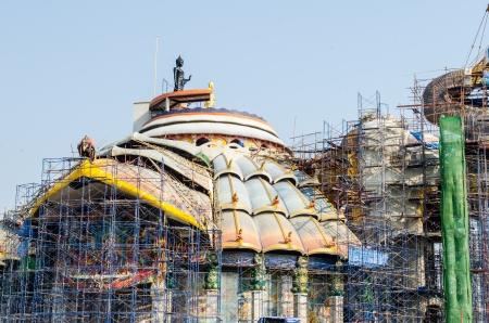 vihara: Beautiful vihara under construction at Baanrai temple, Thailand