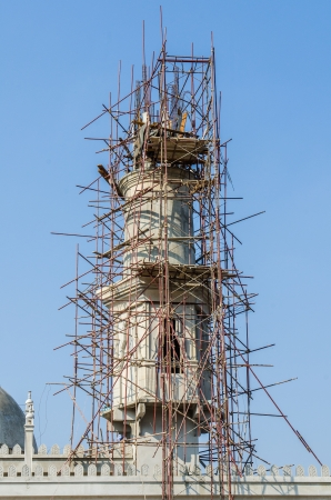 mohammed: New mosque under construction, Thailand Stock Photo