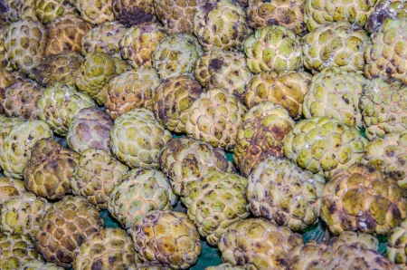 Custard apple background, Thailand photo