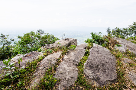 View Point at Pa Hua Nak cliff, Thailand Banco de Imagens