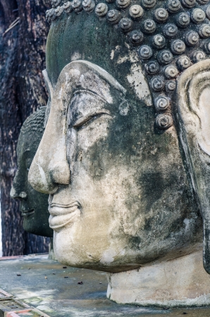 Head shot of buddha statue, Thailand. photo
