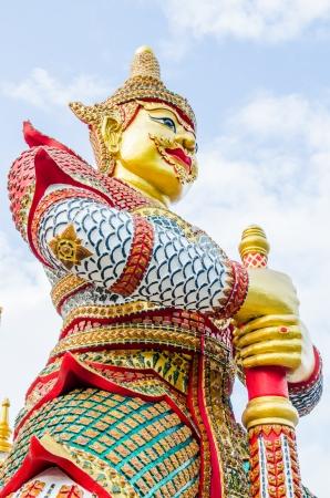 Thai style giant at temple, Thailand photo
