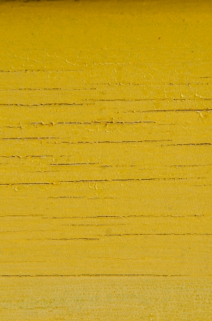 Yellow colour on wood panel, Thailand photo