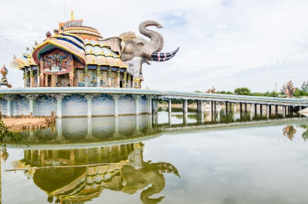 Beautiful vihara at Baanrai temple, Thailand photo