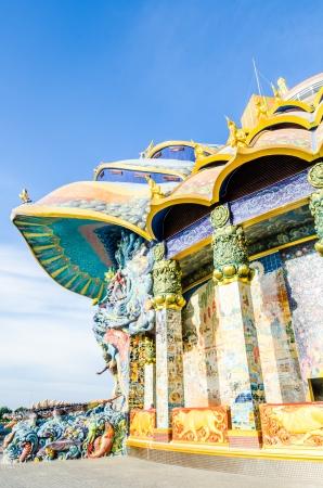 vihara: Some part of beautiful vihara at Baanrai temple, Thailand
