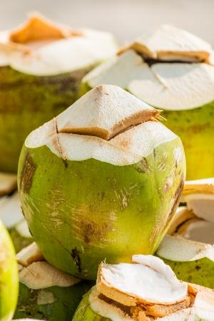 Coconuts at Thai market, Thailand photo