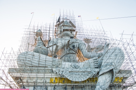 Brahma statue under construction, Thailand photo