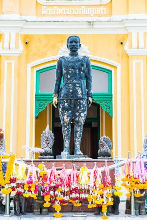 phraya: Phraya Abhaibhubate statue, old statue at Prachinburi province, Thailand