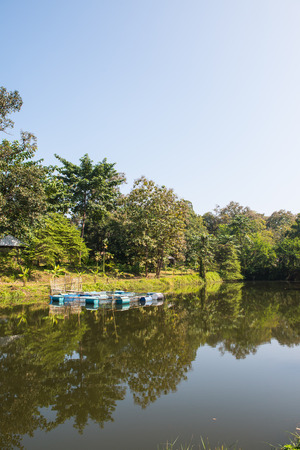 chiangmai province: Landscape of lake at Chiangmai province, Thailand. Stock Photo