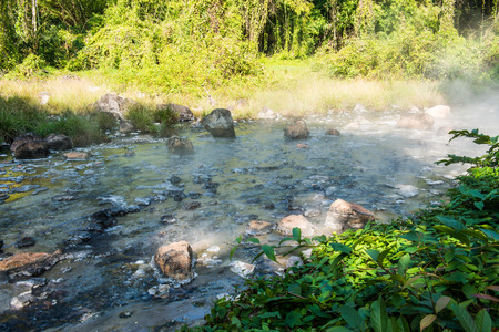 chiangmai province: Landscape of Pong Dueat Hot Spring at Chiangmai Province, Thailand Stock Photo