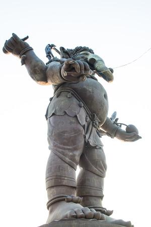 Ganesha statue in standing action, Thailand photo
