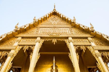 chachoengsao: Golden Thai church at Chachoengsao province, Thailand
