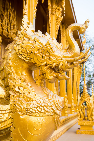 chachoengsao: Thai style molding art at Chachoengsao province, Thailand Stock Photo