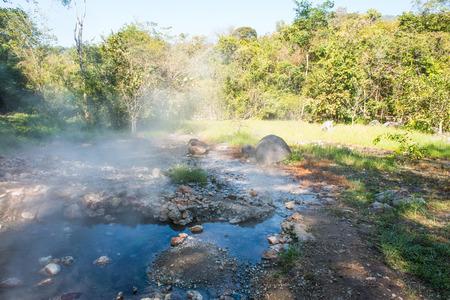 tha: Natural Landscape at Tha Pai Hot Spring, Thailand Stock Photo