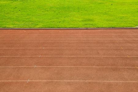 champ vert: Piste de course avec le champ vert, Tha�lande