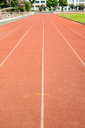 champ vert: Piste de course avec le champ vert, la Tha�lande Banque d'images