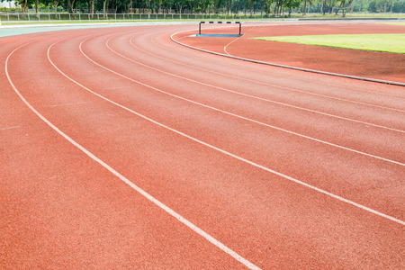 Red running track, Thailand photo