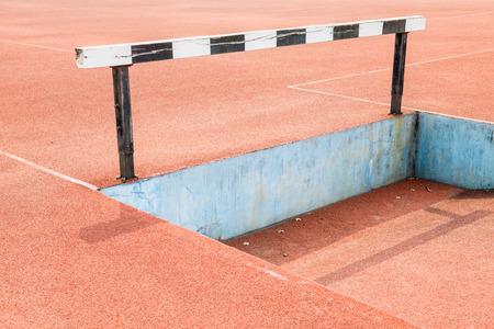Hurdles on running track, Thailand photo