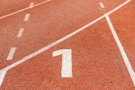 Start point of running track, Thailand photo