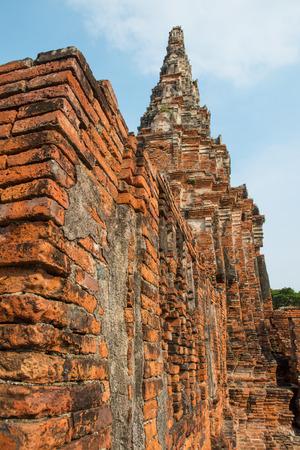 Landscape of Chaiwathanaram Temple, Thailand photo