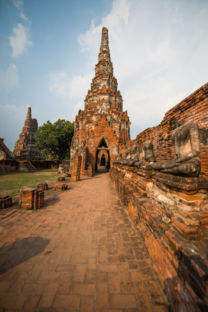 Landscape of Chaiwathanaram Temple, Thailand photo