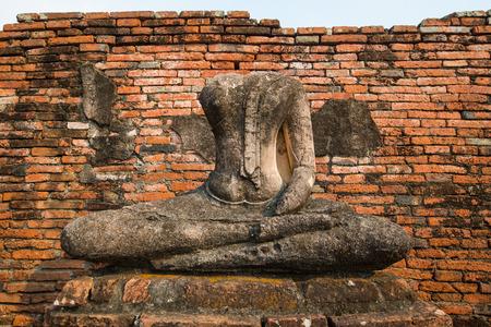Ancient buddha statue, Thailand photo