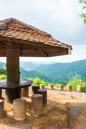 Public rest-house with national park, Thailand photo