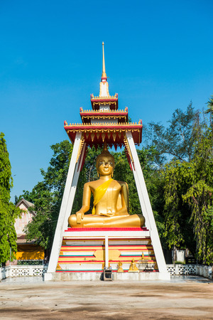 Beautiful buddha statue at Thai temple, Thailand photo
