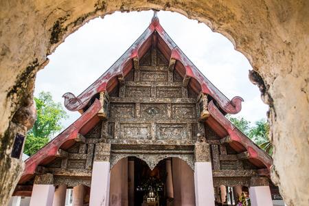 Lanna style church at Lai Hin Kaeo Chang Yuen temple, Thailand photo