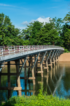 Concrete bridge above Ping river, Thailand photo