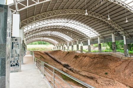 petrified: Petrified Wood in Petrified Forest Park, Thailand Stock Photo