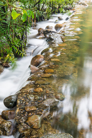 Beautiful water flowing at natural park, Thailand photo