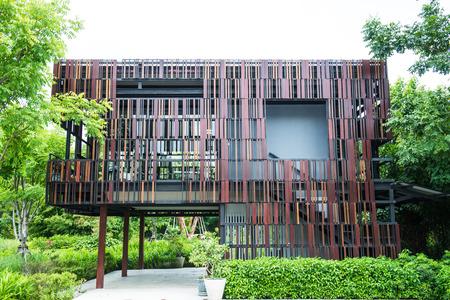 public park: Moderno edificio en el parque p�blico, Tailandia Foto de archivo