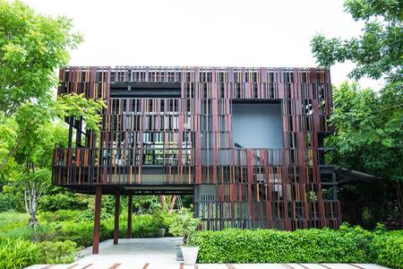 Modern building in public park, Thailand