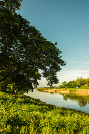 Landscape view of Ping river, Thailand