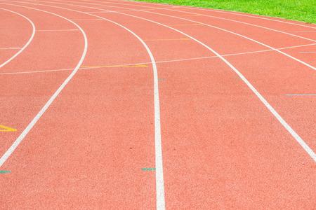 running track: Running track in Thai, Thailand Stock Photo