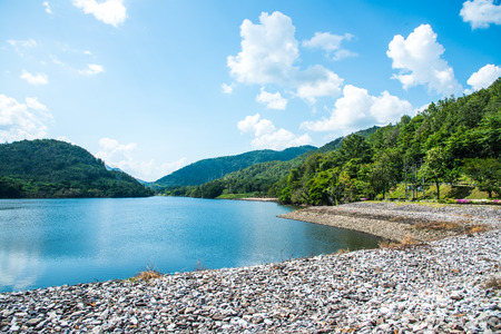 bhumibol: Landscape of Bhumibol Dam, Thailand. Stock Photo