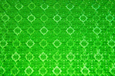 glass panel: Texture of green glass panel, Thailand.
