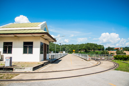lang: Rail Way and Site Office on Mae Ping Ton Lang Dam, Thailand. Editorial