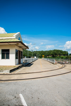 ton: Rail Way and Site Office on Mae Ping Ton Lang Dam, Thailand. Editorial