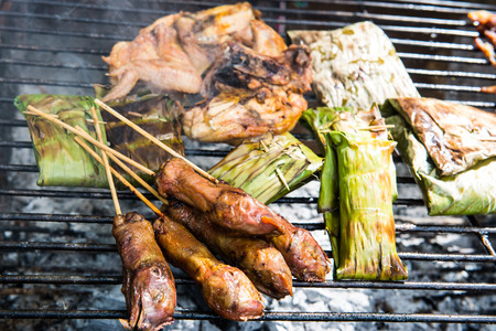 Thai style grilled food, Thailand. photo