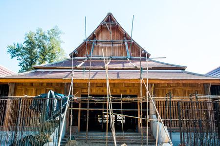 Thai style building under construction, Thailand. photo