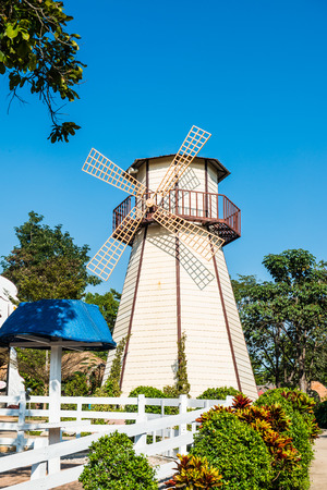 Windmill in the park, Thailand.
