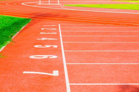 pista de atletismo: Pista de atletismo con el n�mero, Tailandia.