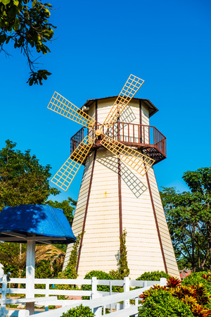 Windmill in the park, Thailand. photo