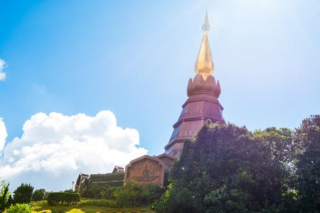 chiangmai province: Phra Maha Dhatu Nabha Metaneedol stupa at Chiangmai province, Thailand.